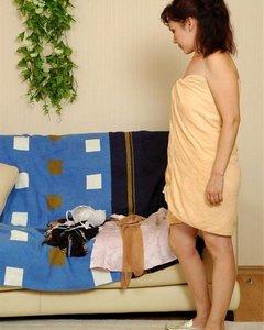 Марина Леонидовна заставила сына отлизать ей и оттрахать