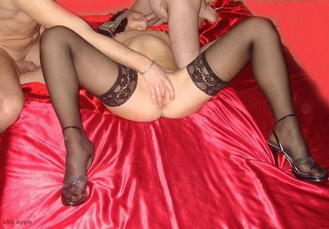 Секс В Чулках В Два Члена